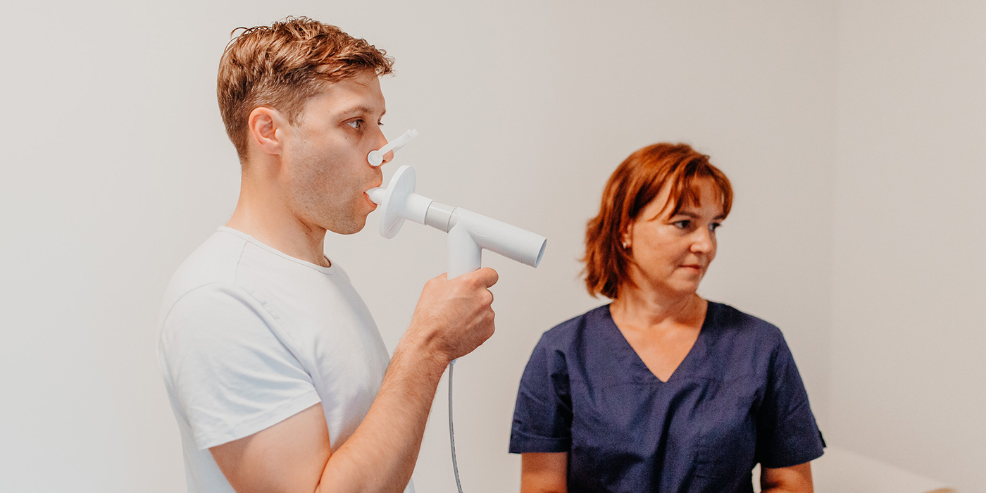Spirometrie (Lungenfunktionsmessung)